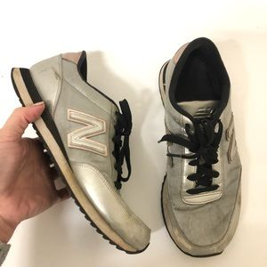 Metallic Silver and Rose Gold New Balance 10